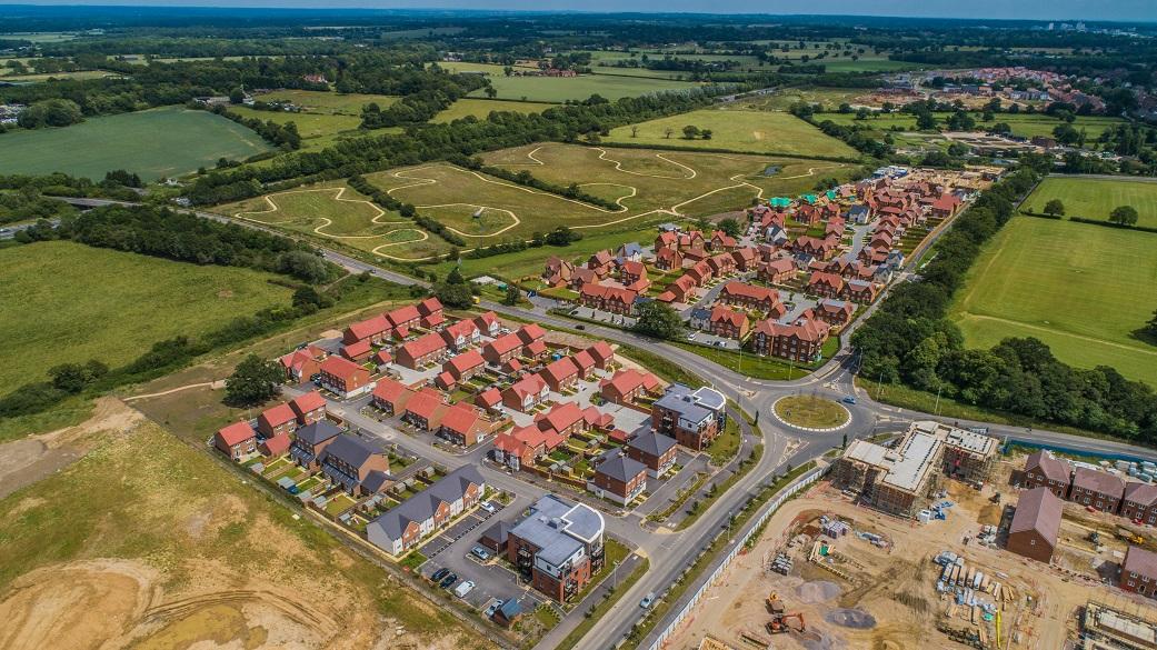Photograph of a new build estate site